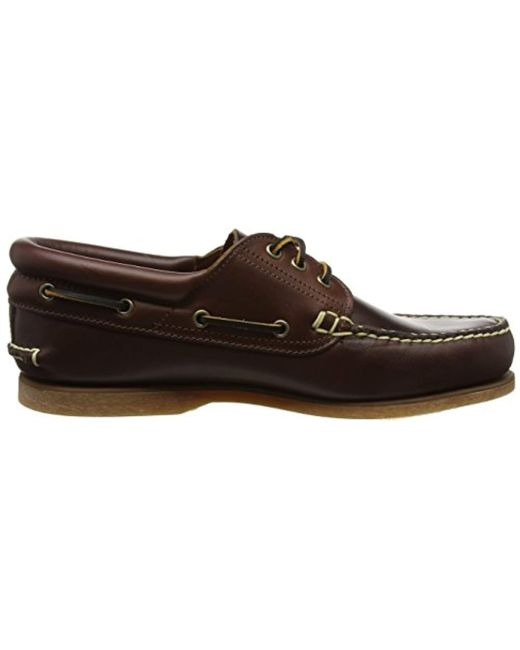 25fbf59e148 ... Timberland - Brown  s Classic 3 Eye Padded (wide Fit) Boat Shoe for ...