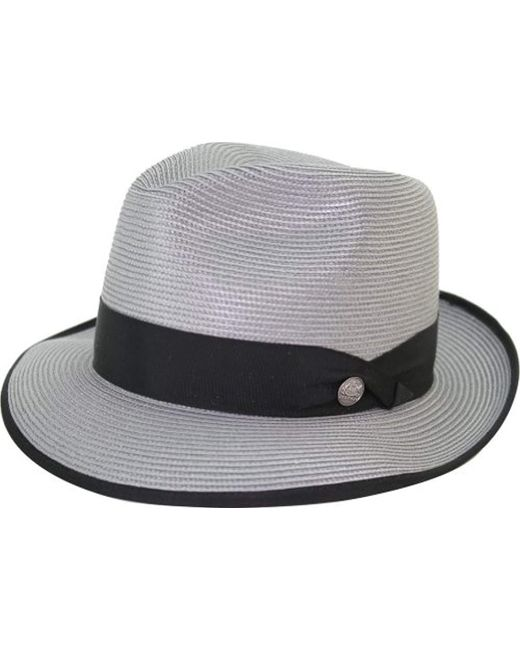 938b928479e Lyst - Stetson Latte Florentine Milan Straw Hat in Gray for Men