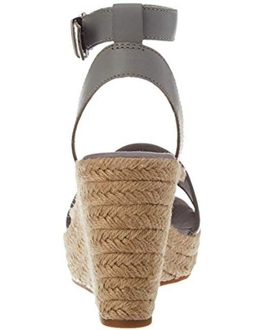 6e91c00b3b53 Tommy Hilfiger Metallic Wedge Sandal Espadrilles in Metallic - Lyst
