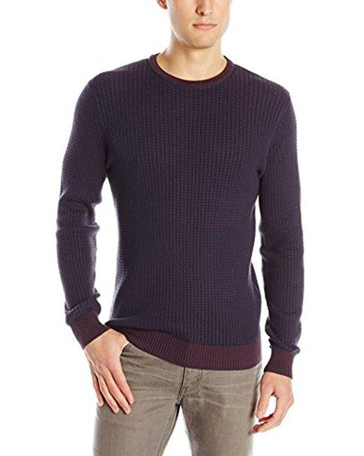 Vince Camuto - Blue Crew Marled Sweater for Men - Lyst