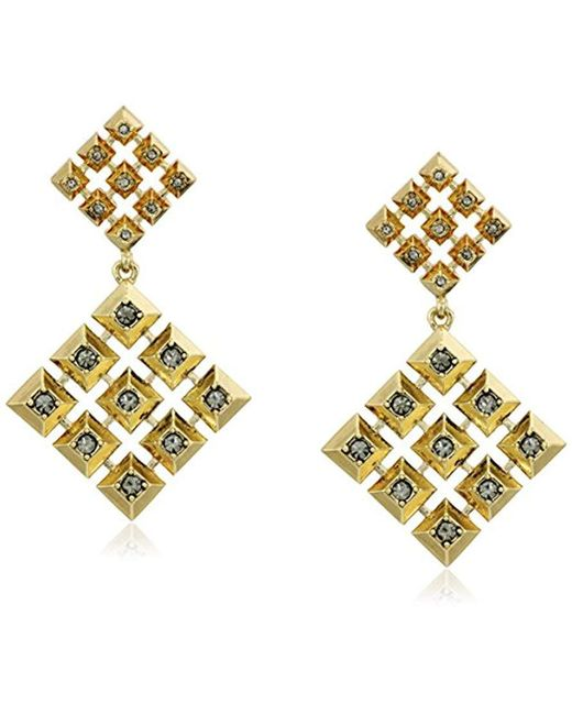 House of Harlow 1960 - Metallic The Lyra Statement Gold Drop Earrings - Lyst