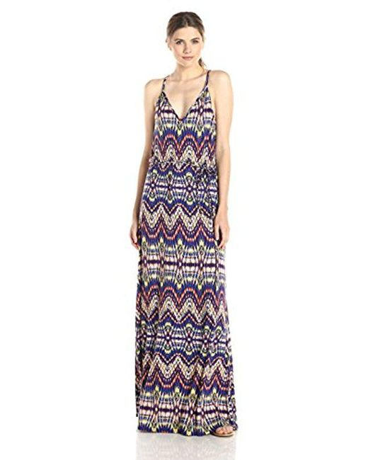 Ella Moss - Purple Souk Printed Jersey Maxi Dress - Lyst