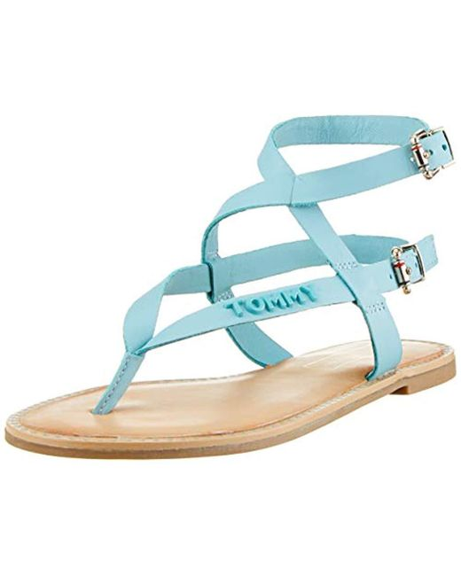 462d758adeb6 Tommy Hilfiger - Blue  s Iconic Flat Strappy Sandal Flip Flops - Lyst ...