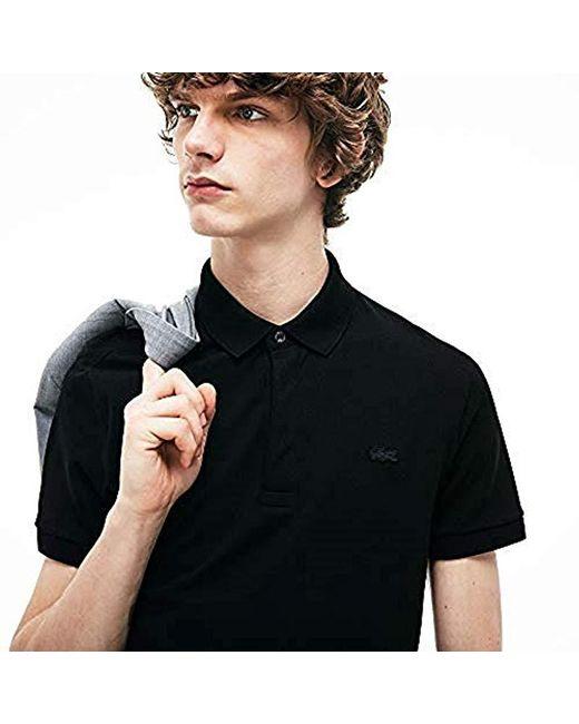 0b85821c66 Paris Polo Homme Lacoste pour homme en coloris Noir - Lyst