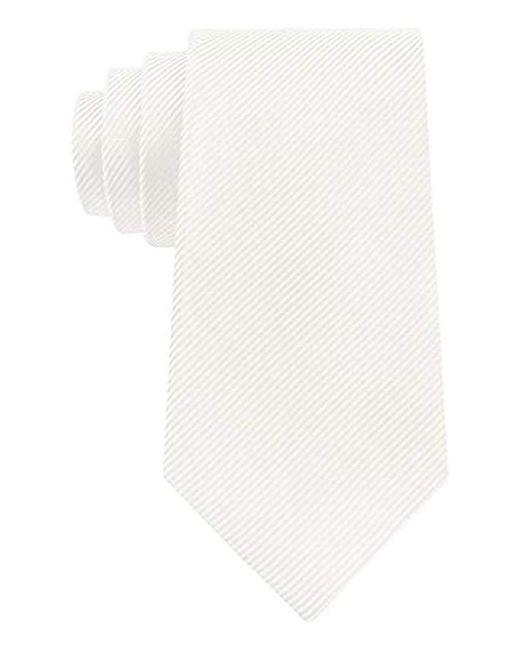 Geoffrey Beene - White Bias Stripe Solid Tie for Men - Lyst