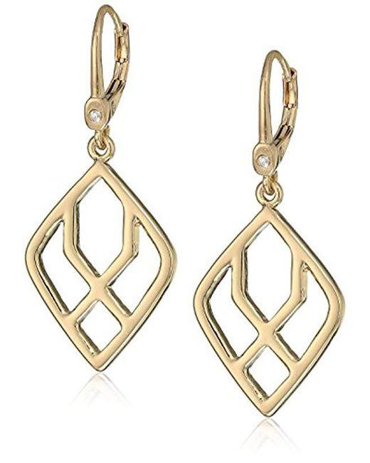 Ivanka Trump - Metallic Goldtone Geometric Open Drop Earrings - Lyst