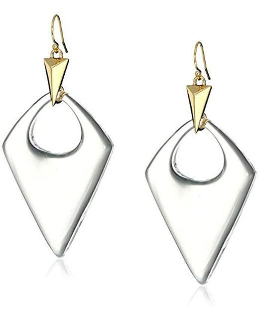 Alexis Bittar - Metallic Pointed Pyramid Drop Earrings - Lyst