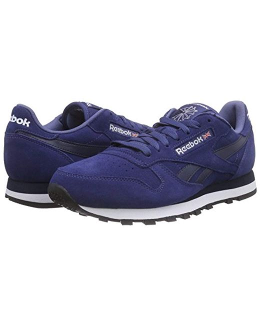 5d72d648b85 ... Lyst Reebok - Blue  s Classic Leather Suede Running Shoes for Men ...