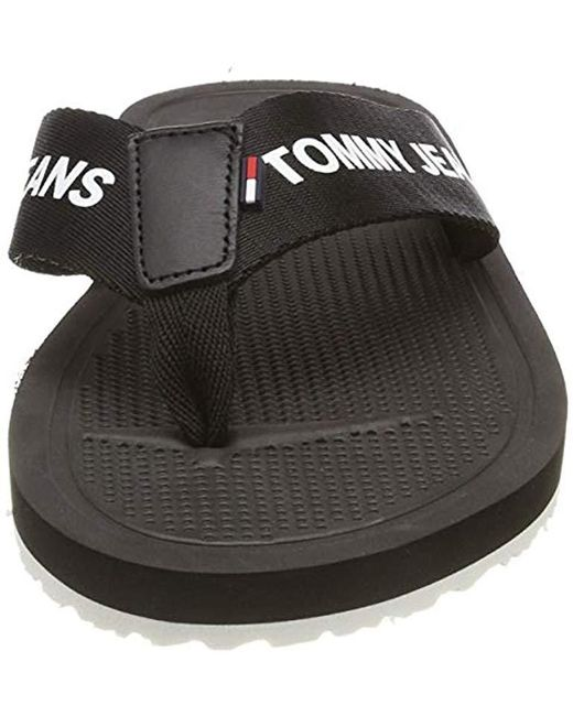 ea240ca6c ... Tommy Hilfiger - Black Hilfiger Denim Moulded Beach Sandal, 's Flip  Flops for Men ...