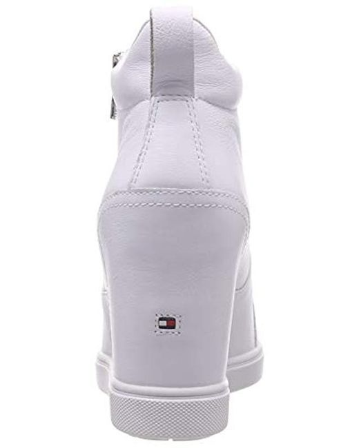 d1267176 Tommy Hilfiger Iridescent Dress Sneaker Low-top in White - Save 9 ...