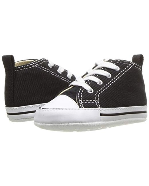 4faaa41df692 ... Converse - Black Unisex s Chuck Taylor First Star-hi Birth Shoes for  Men ...