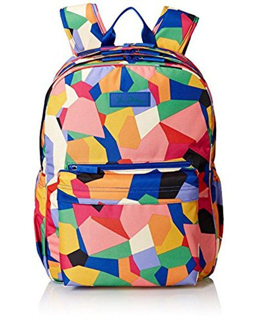 7b14df4e044f ... lyst vera bradley lighten up grande laptop backpack polyester in blue  ...