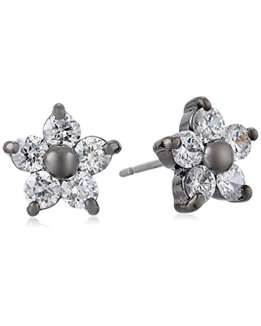 Betsey Johnson - Metallic Flower Stud Earrings - Lyst