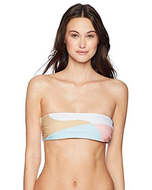 Mara Hoffman - Natural Abigail Bandeau Bikini Top Swimsuit - Lyst
