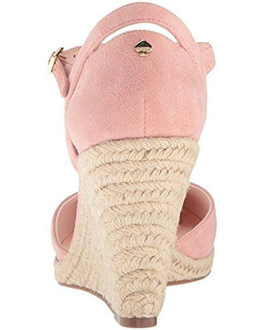 b751f7ae07c9 Lyst - Kate Spade Giovanna Espadrille Wedge Sandal in Pink - Save 15%