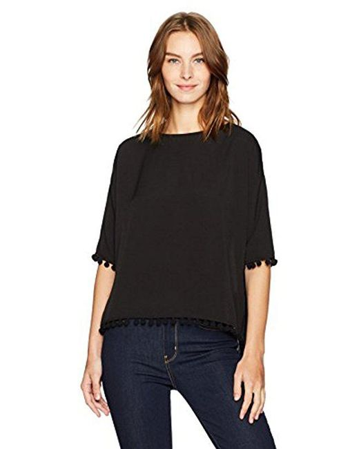 French Connection - Black Pom Polly Top - Lyst