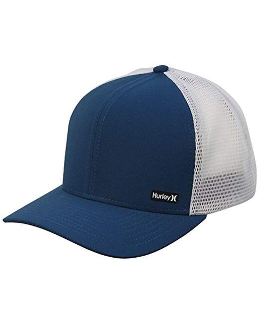 e8c413a55306 Lyst - Hurley League Dri-fit Snapback Baseball Cap in Blue for Men