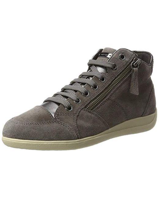 Geox - Gray D Myria C Hi-top Sneakers - Lyst