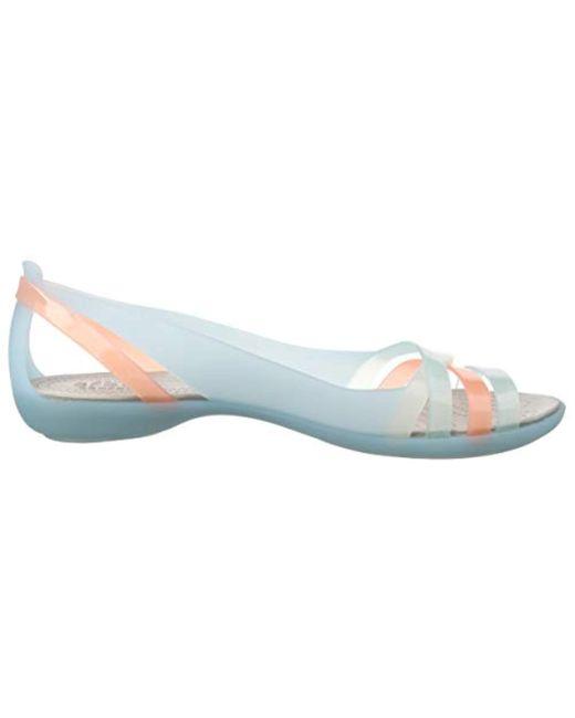 c8fe6f93f287 ... Crocs™ - Blue Isabella Huarache 2 Flat 204912-4c Peep-toe - Lyst ...