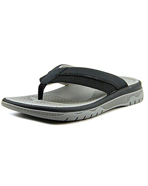 Clarks - Black Balta Sun Men Open Toe Synthetic Thong Sandal for Men - Lyst