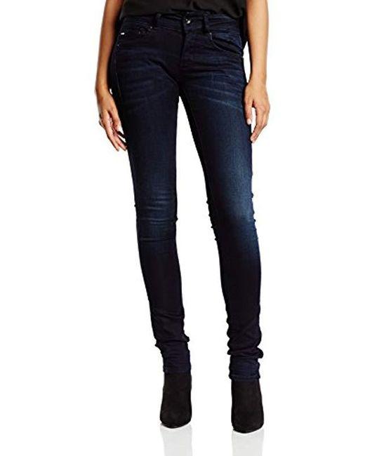 bbef5a89b13 G-Star RAW - Blue Midge Cody Mid Waist Skinny Jeans - Lyst ...