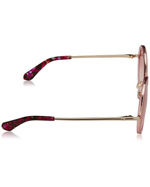 63707cae3c Lyst - Kate Spade Kate Spade Lamonica s Round Sunglasses