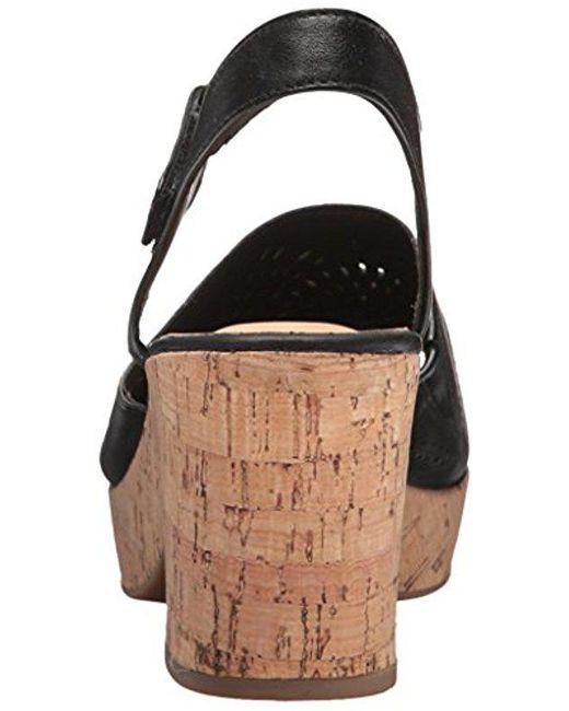 a30a35285 Lyst - Clarks Maritsa Nila Wedge Sandal in Black - Save 71%