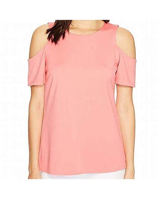 Ellen Tracy - Pink Open Shoulder Top - Lyst