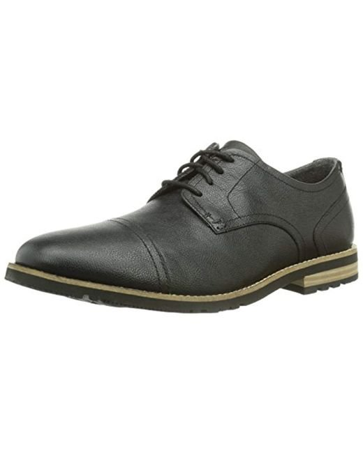 aa227e10dab4a Rockport - Black S Lh2 Cap Oxford for Men - Lyst ...