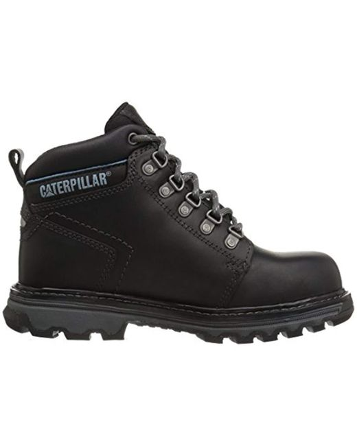 5cb08a4a4f7 ... Caterpillar - Ellie Steel Toe black Work Boot for Men - Lyst ...