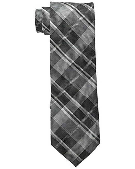 CALVIN KLEIN 205W39NYC - Gray Plaid Tie for Men - Lyst