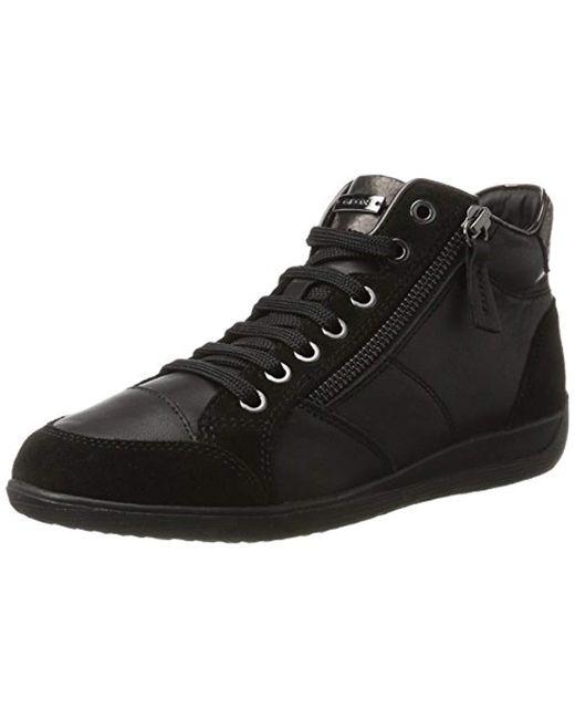 Geox - Black D Myria C Hi-top Sneakers - Lyst