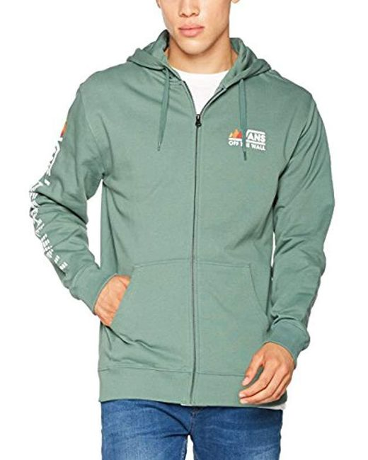 Vans - Green Peaks Camp Fz Hoodie for Men - Lyst ... e03e04911