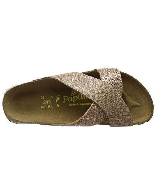 ... Birkenstock - Brown Daytona Leder Heels Sandals - Lyst 66bb294ec5e