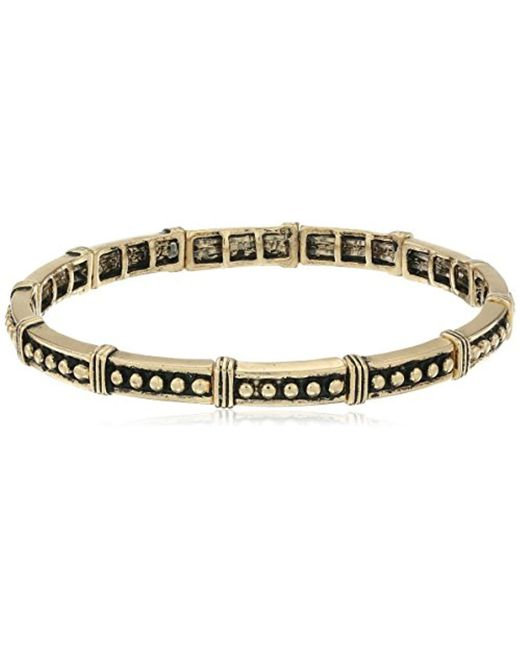 BCBGeneration - Metallic Textured Faux Wire Wrapping Stretch Bracelet - Lyst