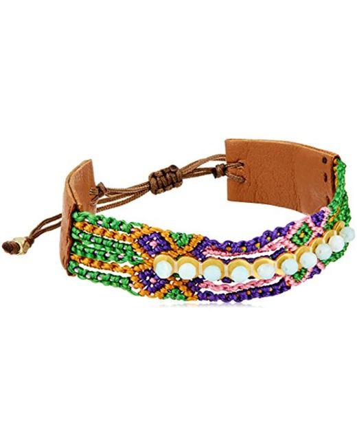 Chan Luu - Multicolor Mix Pull Tie Friendship Cuff Bracelet - Lyst