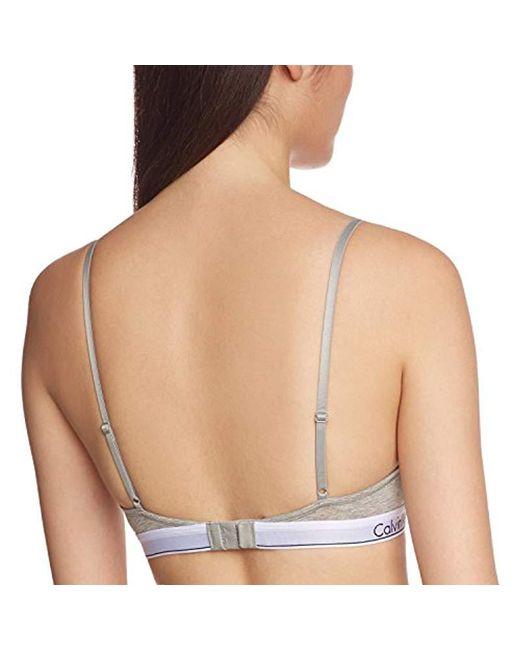 307d0e5313 ... Calvin Klein - Gray Modern T Shirt Bra Non-padded Wired Bra - Lyst