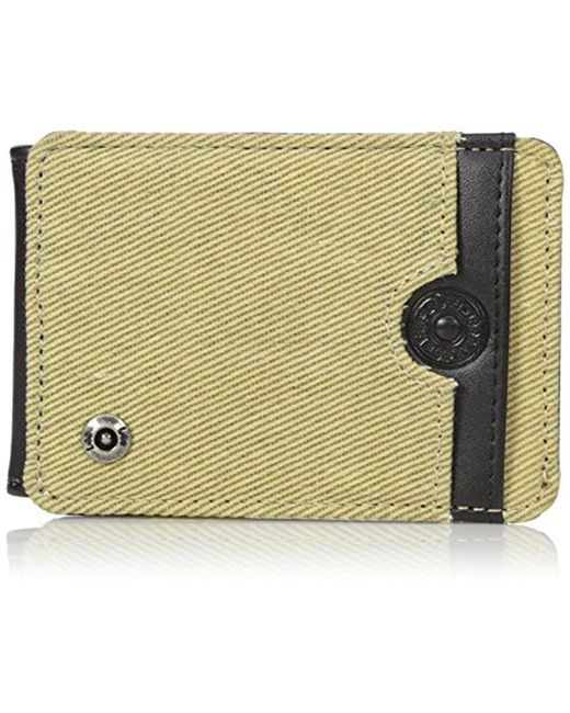 Lee Jeans - Multicolor Canvas And Leather Front Pocket Rfid Blocking Wallet for Men - Lyst