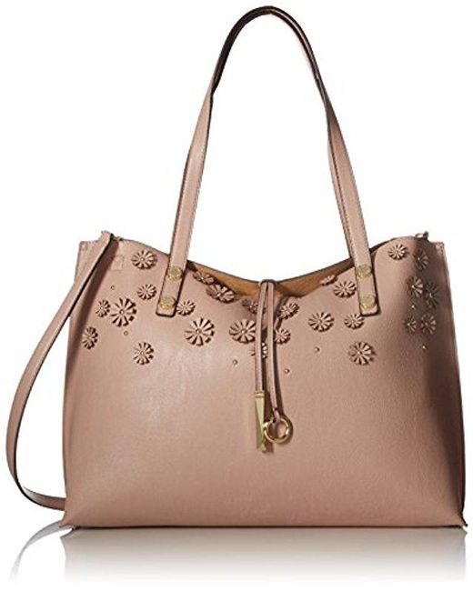 CALVIN KLEIN 205W39NYC - Natural Unlined Raffia Patchwork Reversible Tote - Lyst