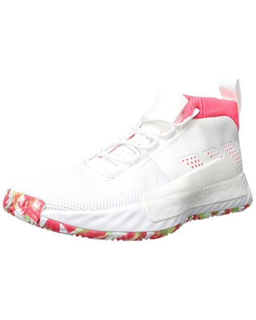 buy popular 02270 705b2 Adidas - White Dame 5 for Men - Lyst ...