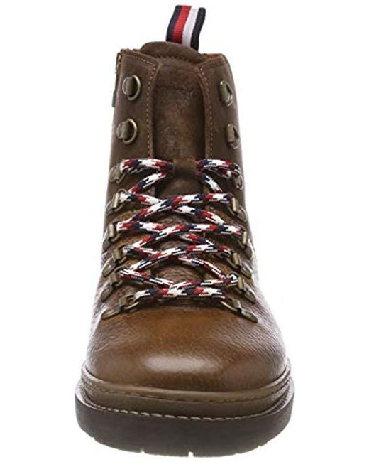 728a713a0e8fca ... Tommy Hilfiger - Brown Elevated Outdoor Hiking Boot Combat for Men -  Lyst ...
