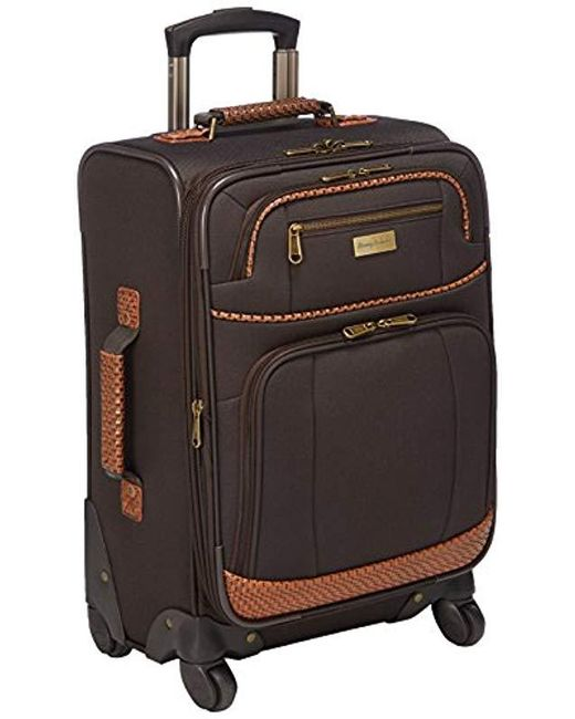 Tommy Bahama - Brown Expandable Spinner Carry On Suitcase - Lyst
