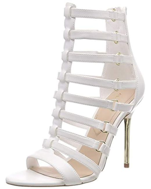 412411a556bc ALDO - White Unaclya Open Toe Sandals - Lyst ...