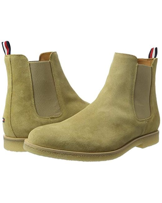 6f304e78cd60b Tommy Hilfiger  s W2285illiam 2b Chelsea Boots in Green for Men - Lyst