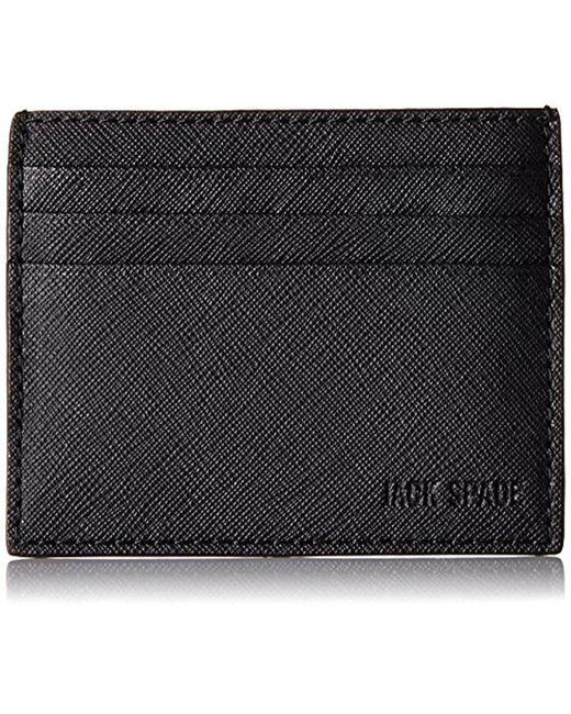 Jack Spade - Black Barrow Leather 6 Card Holder for Men - Lyst