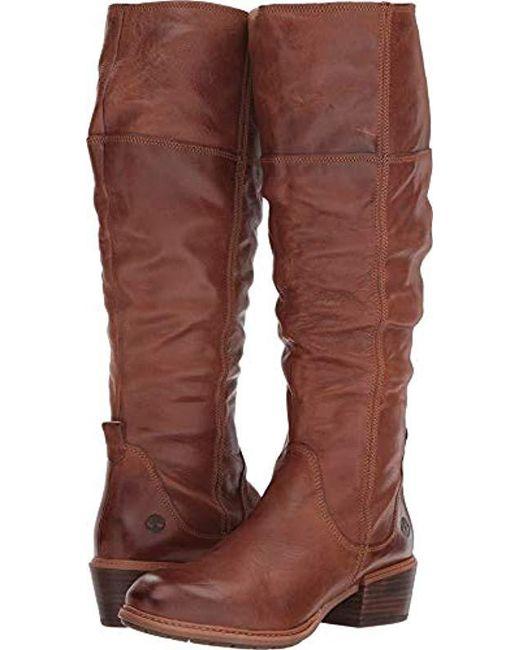 02e8976fecce7 Timberland - Sutherlin Bay Tall Boot (medium Brown Full Grain) Women s Zip  Boots ...