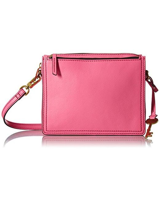 Fossil - Pink Campbell Crossbody Bag - Lyst