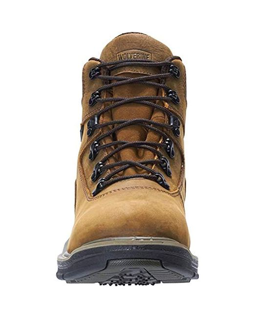 b473e283f73 Men's Brown Marauder 6 Inch Contour Welt Steel Toe Eh Work Boot