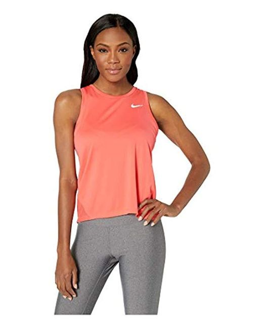 39752b8212e4c Nike Miler Tank (black reflective Silver) Women s Clothing in Red - Lyst