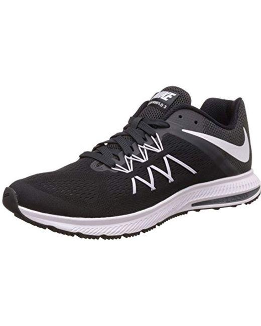 superior quality 647df c84c9 Men's Black Zoom Winflo 3 Running Shoes